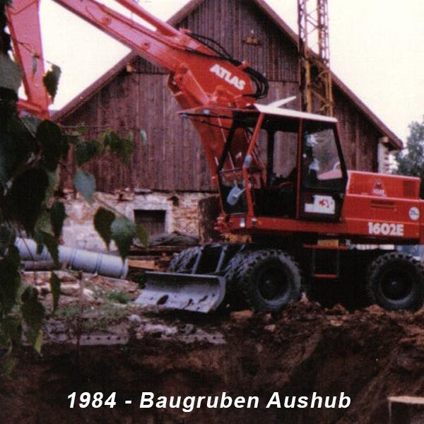 1984 Baugrubenaushub