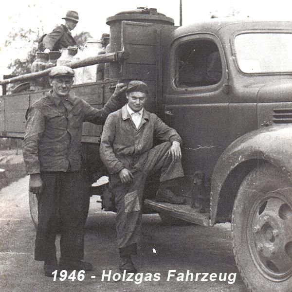 1946-Holzgas Fahrzeug