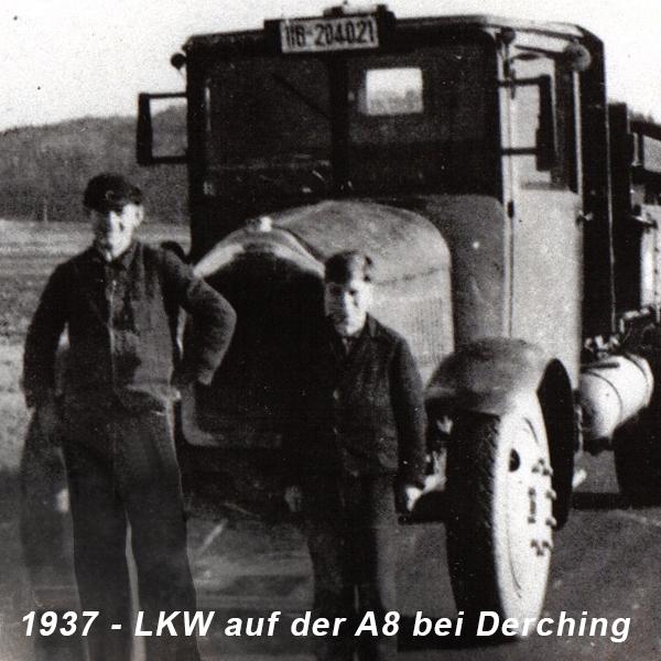 1937- LKW auf der A8 bei Derching